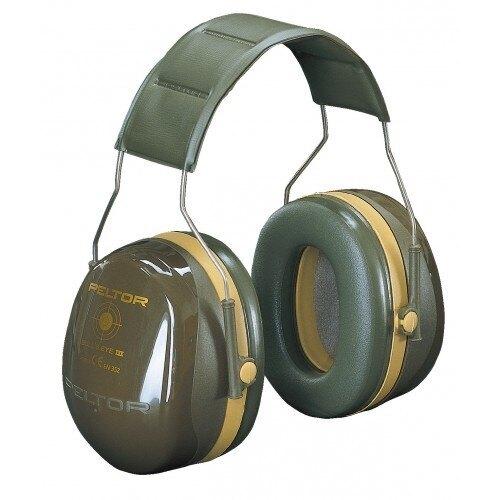 Mušlové chrániče sluchu 3M® PELTOR® Bull's Eye III™ - armádní zelená