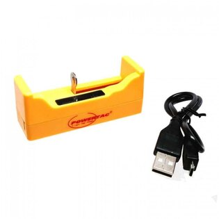 Nabíječka Single Bay USB (18650 , RCR123A) PowerTac®