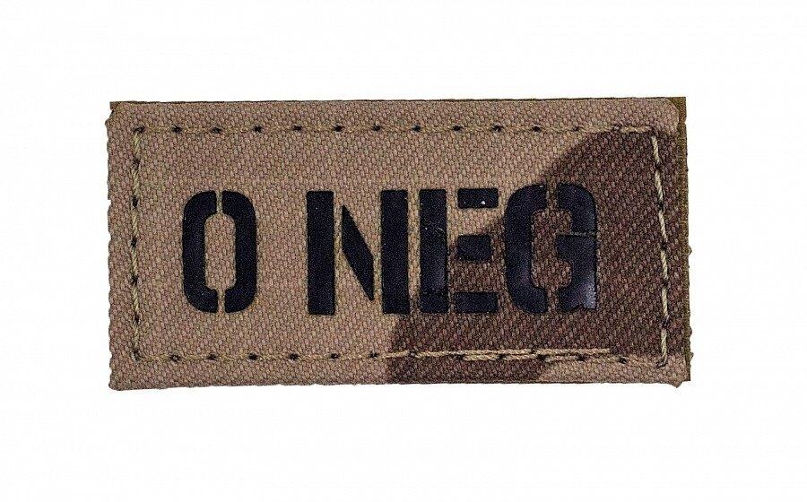 Nášivka AČR IR Combat Systems® krevní skupina 0 NEG