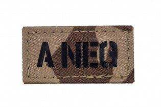 Nášivka AČR IR Combat Systems® krevní skupina A NEG