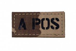 Nášivka AČR IR Combat Systems® krevní skupina A POS