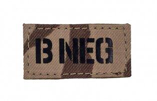Nášivka AČR IR Combat Systems® krevní skupina B NEG - vzor 95 Poušť