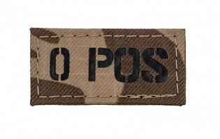 Nášivka AČR IR Combat Systems® krvná skupina 0 POS