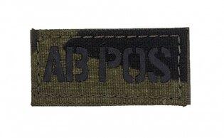 Nášivka AČR IR Combat Systems® krvná skupina AB POS - vzor 95
