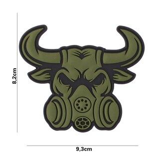 Nášivka Gasmask Bull 101INC® - zelená