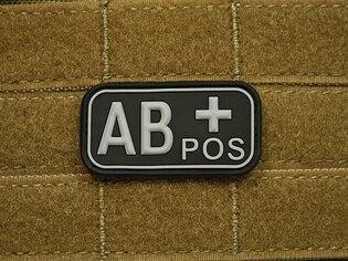 Nášivka JTG krvná skupina AB pozitívne