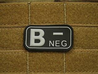 Nášivka JTG krvná skupina B negatívny