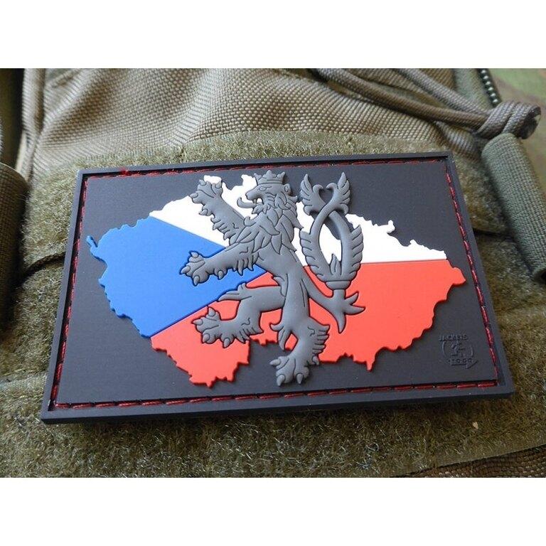Nášivka JTG® mapa ČR se lvem - barevná