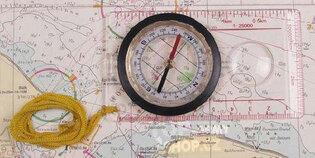 Navigační mapový kompas - buzola MFH®
