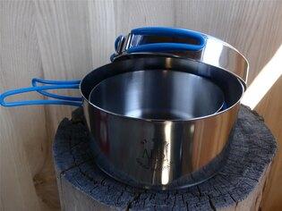 Nerezové třídílné kempingové nádobí ALB® K2