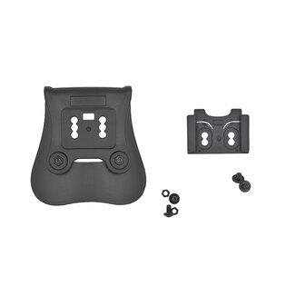 Nosné pádlo pre puzdrá T - Serie rýchloodopínacie Cytac® - čierne