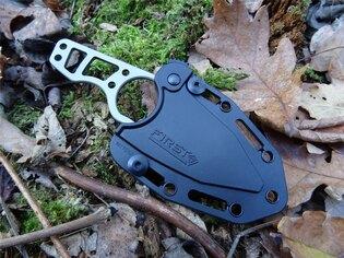 Nôž s pevnou čepeľou First Tactical® Scorpion Mini Tanto - strieborný