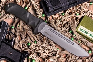 Nôž s pevnou čepeľou Kizlyar SUPREME® Dominus AUS 8 Stone Wash