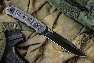 Nôž s pevnou čepeľou Kizlyar SUPREME® Enzo D2 Titanium Micarta