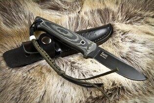 Nôž s pevnou čepeľou Kizlyar SUPREME® Santi AUS 8 Titanium Micarta