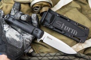 Nôž s pevnou čepeľou Kizlyar SUPREME® Sturm CPM 4V - čierny