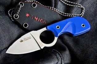 Nôž s pevnou čepeľou - nôž na krk Amigo X Kizlyar SUPREME® AUS 8 Titanium