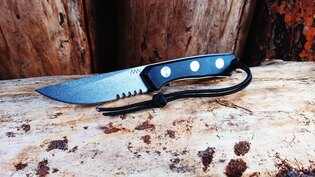 Nůž s pevnou čepelí ANV® P200 s kombinovaným ostřím