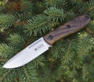 Nůž s pevnou čepelí KIZLYAR SUPREME® Colada Böhler K340 satin - hnědý