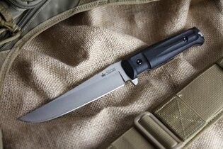 Nůž s pevnou čepelí KIZLYAR SUPREME® Croc AUS 8 S+SW - černý