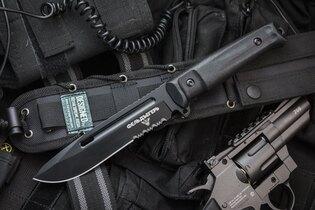 Nůž s pevnou čepelí KIZLYAR SUPREME® Feldjaeger AUS 8 - černý