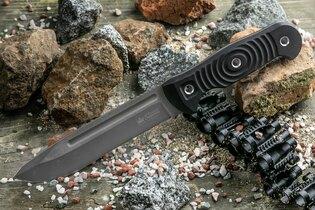 Nůž s pevnou čepelí KIZLYAR SUPREME® Maximus Sleipner Stone Wash