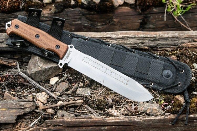 Nůž s pevnou čepelí KIZLYAR SUPREME® Survivalist X AUS 8 Walnut