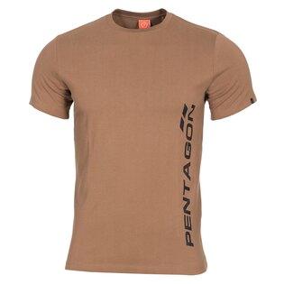 Pánske bavlnené tričko PENTAGON® Ageron Ring-spun, vertikálny nápis