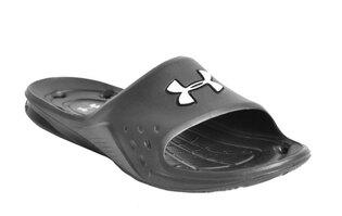 Pánske plážové pantofle UNDER ARMOUR® Locker Slides Special Edition - čierne