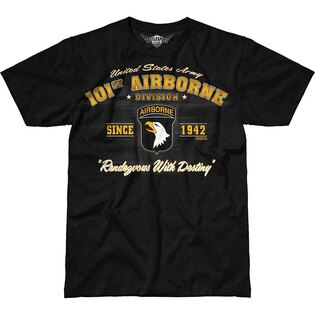 Pánske tričko 7.62 Design® Army 101st Airborne Vintage - čierne
