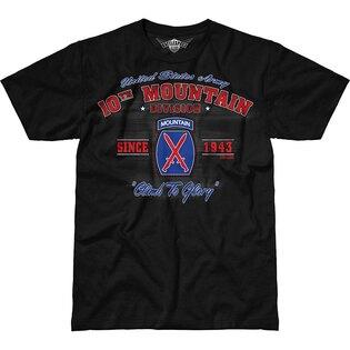 Pánske tričko 7.62 Design® Army 10th Mountain Vintage - čierne