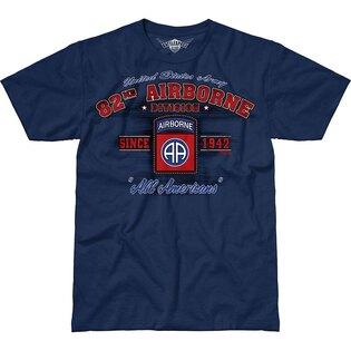 Pánske tričko 7.62 Design® Army 82nd Airborne Vintage - modré