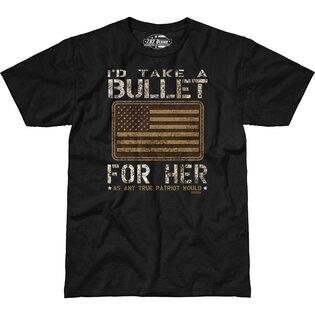 Pánske tričko 7.62 Design® Bullet For Her - čierne