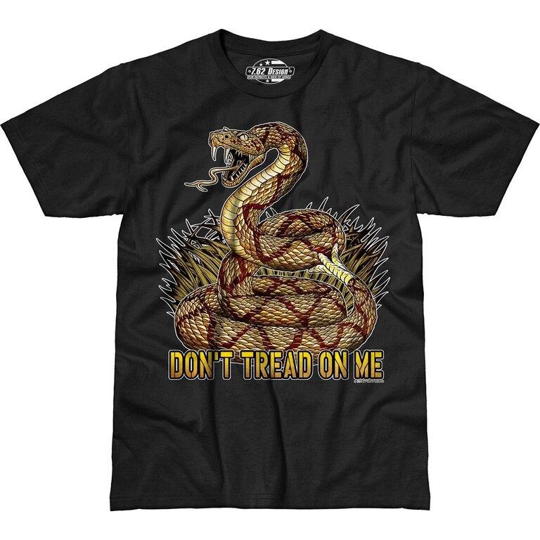 Pánské tričko 7.62 Design® Don't Tread On Me - černé