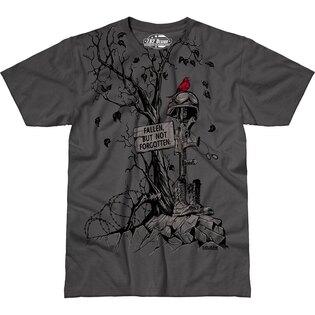 Pánské tričko 7.62 Design® Fallen, But Not Forgotten - šedé