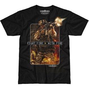 Pánske tričko 7.62 Design® Fight Fire With Fire - čierne