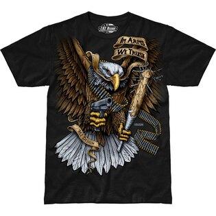 Pánske tričko 7.62 Design® In Arms We Trust - čierne