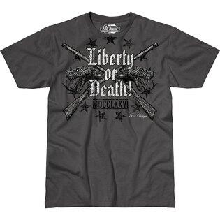 Pánske tričko 7.62 Design® Liberty or Death - sivé