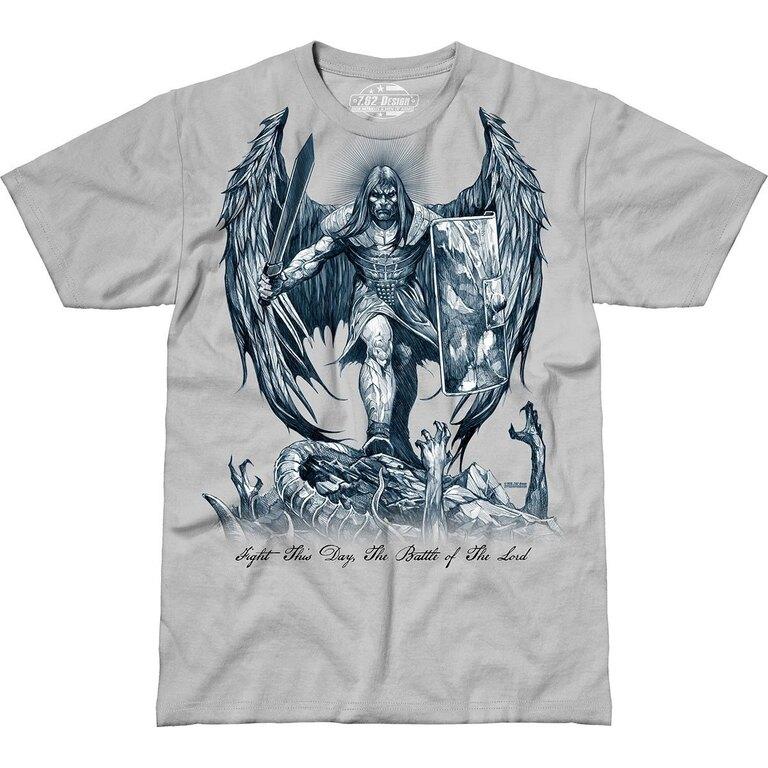 Pánské tričko 7.62 Design® St Michael Fight This Day - šedé