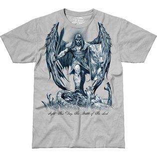 Pánske tričko 7.62 Design® St Michael Fight This Day - sivé