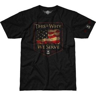 Pánské tričko 7.62 Design® This Is Why We Serve - černé