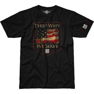 Pánske tričko 7.62 Design® US Coast Guard This Is Why We Serve - čierne
