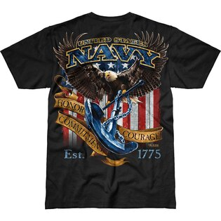 Pánske tričko 7.62 Design® US Navy Fighting Eagle - čierne