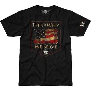Pánske tričko 7.62 Design® US Navy This Is Why We Serve - čierne