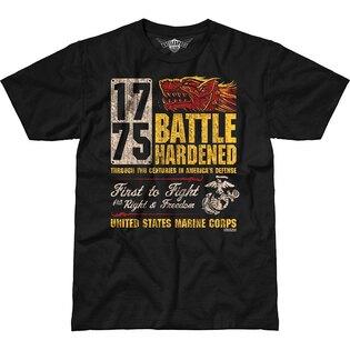 Pánske tričko 7.62 Design® USMC Battle Hardened - čierne