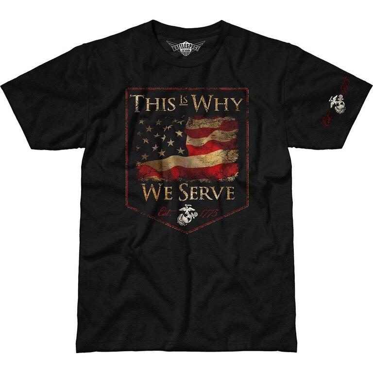 Pánské tričko 7.62 Design® USMC This Is Why We Serve - černé