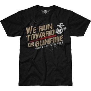 Pánské tričko 7.62 Design® USMC Toward The Gunfire - černé
