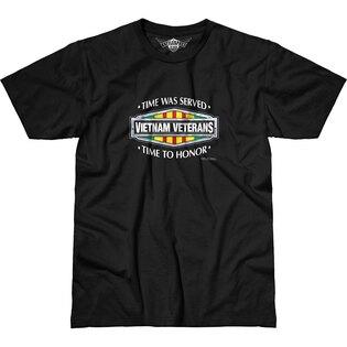 Pánské tričko 7.62 Design® Vietnam Veterans Time Served - černé