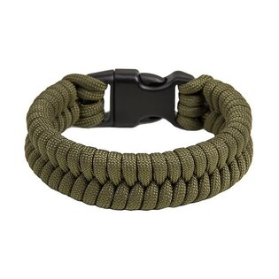 Paracord náramek Fish - Army Green