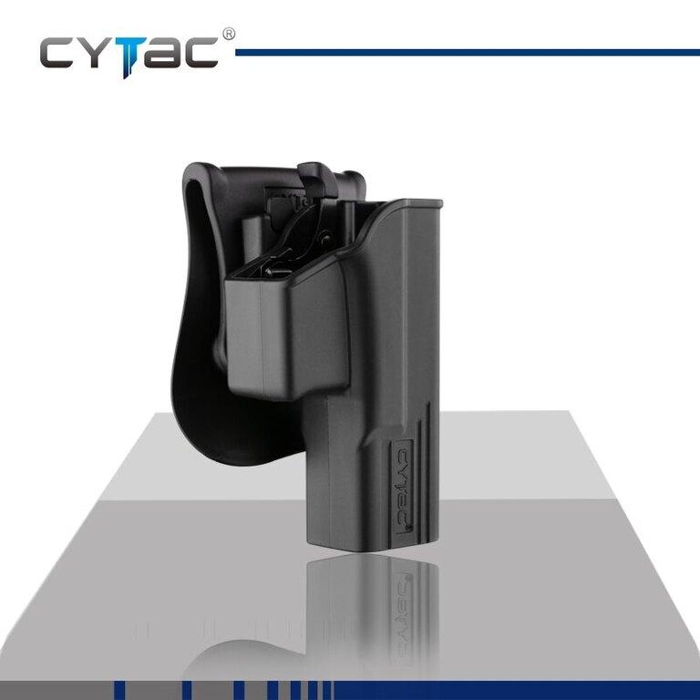 Pistolové pouzdro T-ThumbSmart + universální pouzdro na zásobník Cytac® Glock 19, 23, 32 - černé